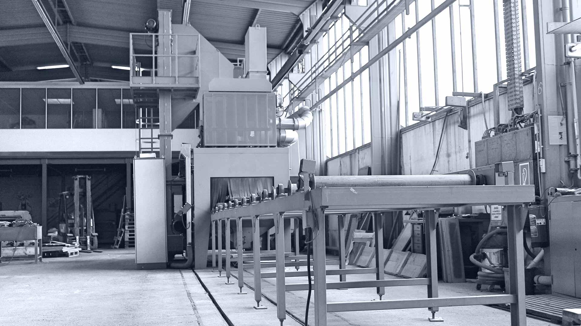 KF Strahltechnik Dresden | Sonderstrahlanlagen Schleuderrad